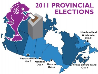 2011 Provincial Elections Map of Canada
