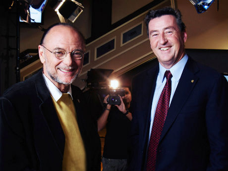Moses Znaimer, CEO, ZoomerMedia Limited, and Kevin Dougherty, President, Sun Life Financial, Canada