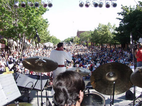 Elvis Hurontario Street Party from Stage Looking Out - Credit Unknown