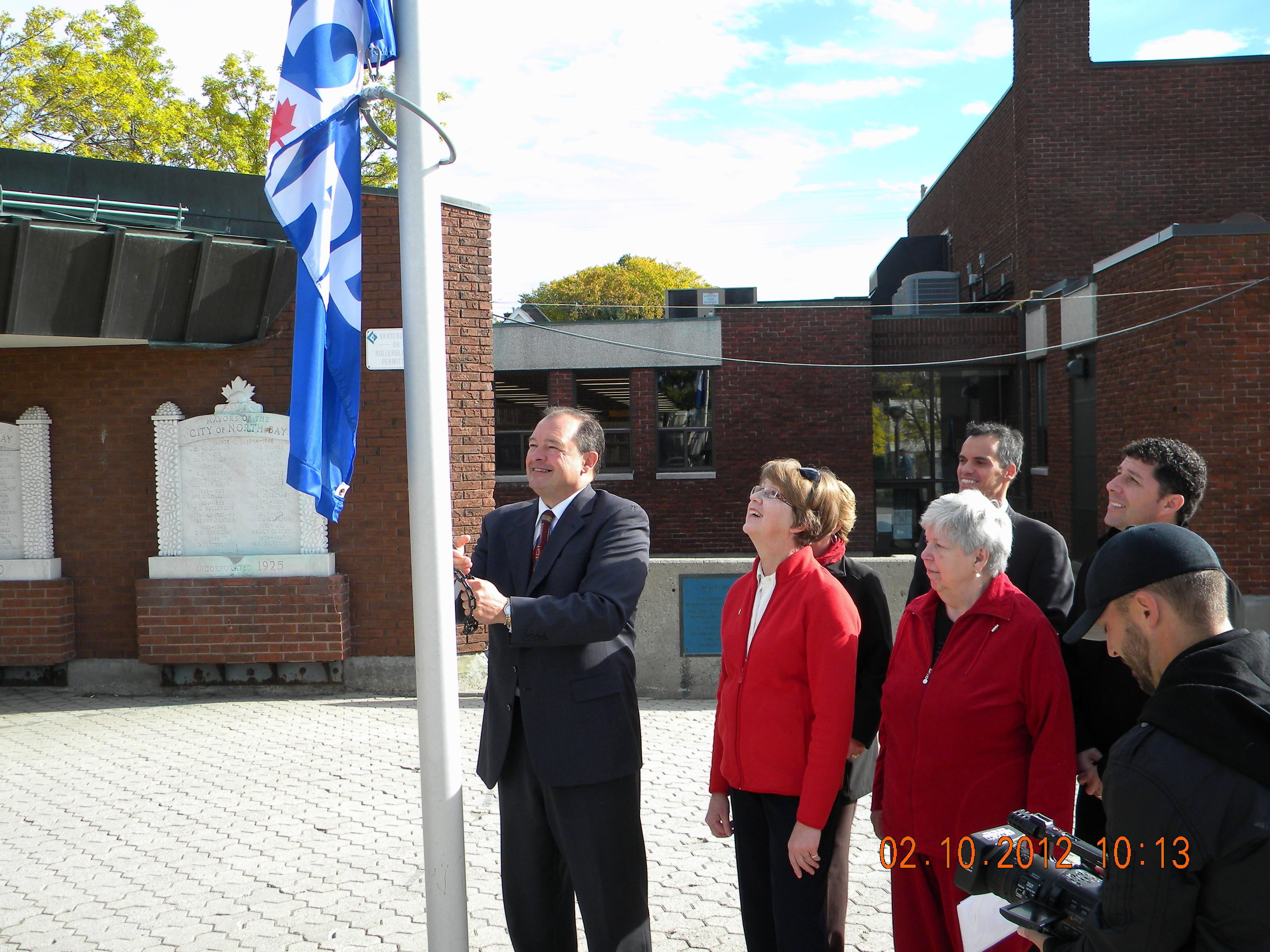 carp flag flies for national seniors day carp