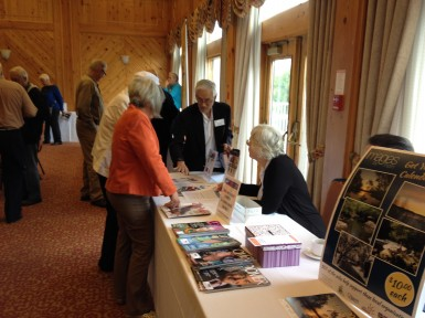 Visiting information booths and renewing memberships