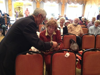 Mary Jane Irwin gets the details on her $500 VIA Rail door prize!