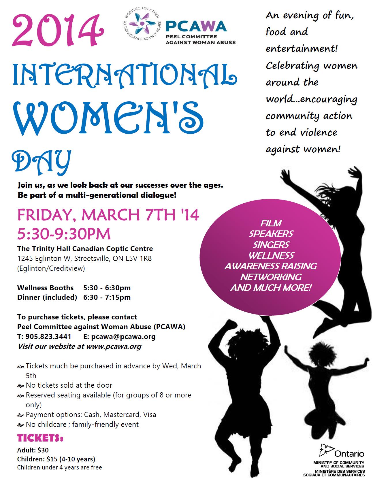 PCAWA presents 2014 International Women's Day Celebration ...