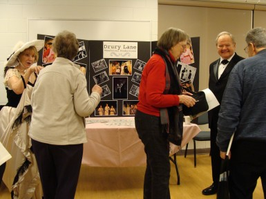 Guests chatting with sponsor - Drury Lane Theatre