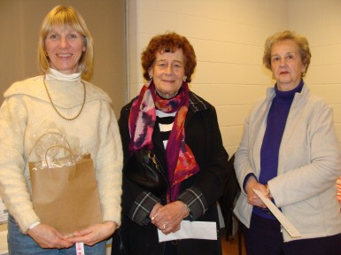 Draw winners at Burlington from L to R: Deedee Davies, Anne Bekker and Ann Graham