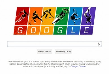 This was Google's landing page on February 7th, 2014 - the day the opening ceremonies took place at the Sochi Olympics