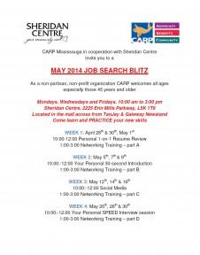 CARP Mississauga and Sheridan Mall invite you to the Ma 2014 Job blitz
