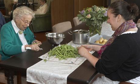 dementia shelling peas