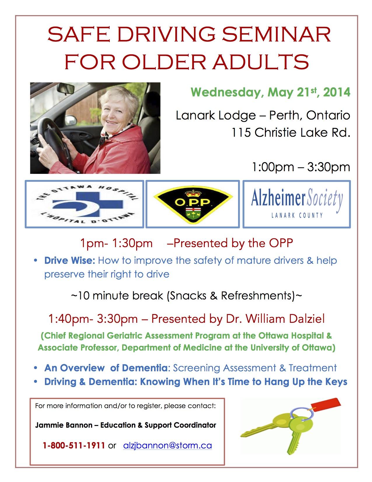 SAFE DRIVING SEMINAR FOR OLDER ADULTS