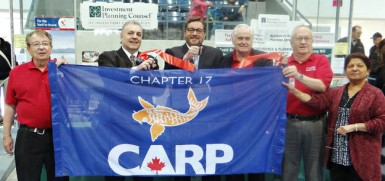 The Brantford Seniors Resource Fair was a great success! With 2,000 attendees, the Brantford Chapter's volunteer run fair brought CARP members together for a great day of conversation, activities and community engagement. Pictured above are the CARP board members: Adam Levschuk, David Simmons, Andy Woodburn, Bill Burgess and Rasha Rana cut the Fair ribbon with Brantford Mayor Chris Friel (Center).