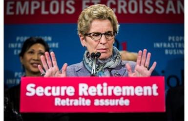 Kathleen Wynne Secure Retirement