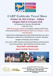 CARP Etobicoke and Cruise Holidays | Luxury Travel Boutique Travel Show