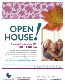 Chartwell Retirement Residence-Open House Poster