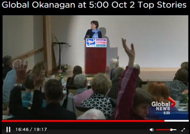 Global Okanagan news screen grab audience