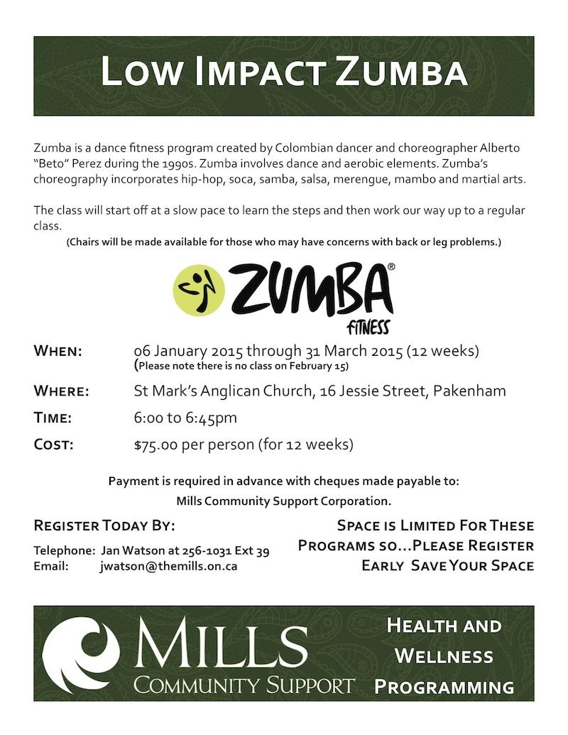 Poster Low Impact Zumba January 2015 (3)