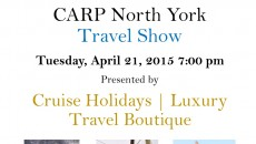 CARP North York Travel Show - Cruise Holidays | Luxury Travel Boutique