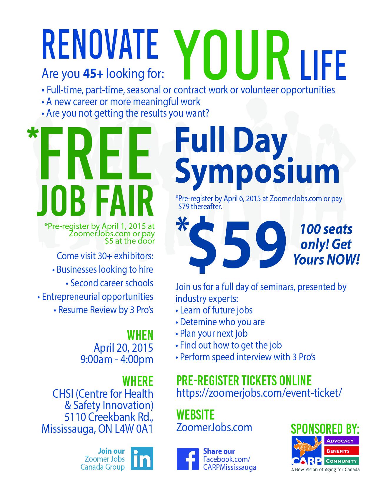 Renovate your life CARP Job Fair