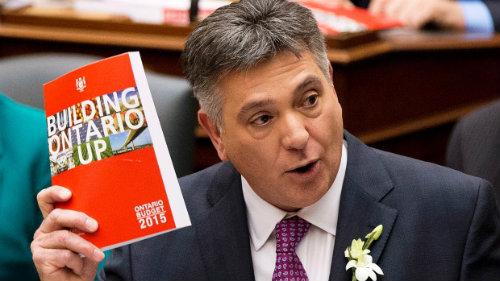Ontario Finance Minister, Charles Sousa, tabled Ontario's 2015 budget on Thursday, April 23