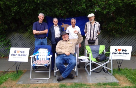 Front Row: Henry Evans-Tenbrinke Malcolm Buchanan (CURC), Doug Stone (CARP Hamilton), Amar Chahil (CARP Hamilton), Ken Stone (CURC),
