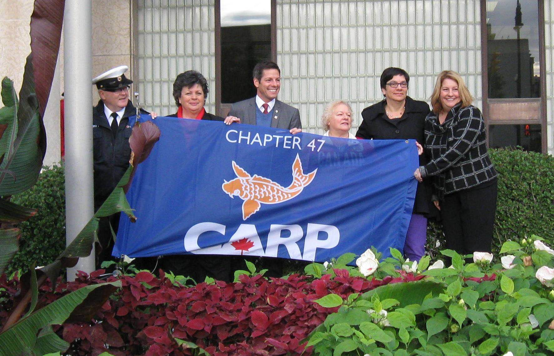 over 40 carp flags raised highlights from national seniors day