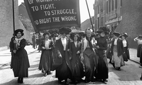 Suffragette Marching, London Circa. 1911