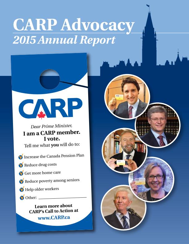 CARP Advocacy Report 2015 cover
