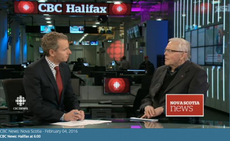 CBC News Nova Scotia segment aired on February 4, 2016