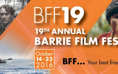 The 19th Annual Barrie Film Festival is October 14th Through 23rd