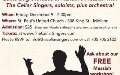 The Cellar Singers Are Presenting A Sing- Along Messiah in Midland