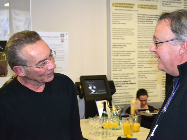 Bill says goodbye to his friends and colleagues at his retirement party, March 28th, 2014