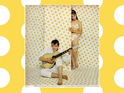 Timmy mallet yellow polka dot bikini