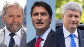 Mulcair Trudeau Harper