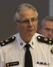 TORONTO, ONTARIO: Thursday, August 14, 2014 - Deputy Chief Michael Federico sits at the Toronto Police Services Board meeting at Police Headquarters in Toronto, Ontario on Thursday, August 14, 2014.  Federico's name has been floated as a possible contender for future police chief.  (Laura Pedersen/National Post)  (For Toronto story by Natalie Alcoba)  //s3.amazonaws.comNATIONAL POST STAFF PHOTO