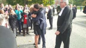 Wynne Trudeau Hug 2