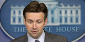 Principal Deputy White House press secretary Josh Earnest speaks to the media during his last briefing before taking over as press secretary, Friday, June 20, 2014, in the Brady Press Briefing Room of the White House in Washington. (AP Photo/Jacquelyn Martin)
