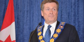 CANADA, Toronto: Toronto Mayor John Tory addressed the media after he was sworn into office at City Hall in Toronto, Ontario on December 2, 2014.