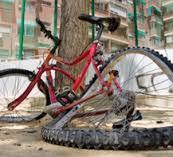 bicycle mangled